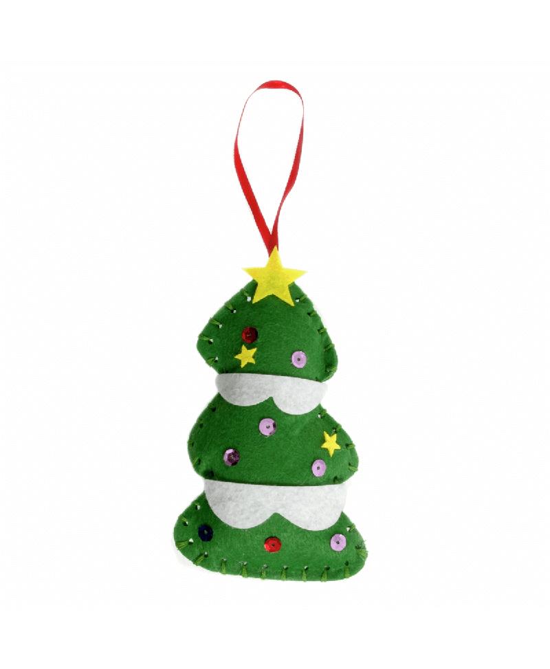 Make Your Own Felt Snow Globe Tree Decoration Kit Trimits Christmas Crafts