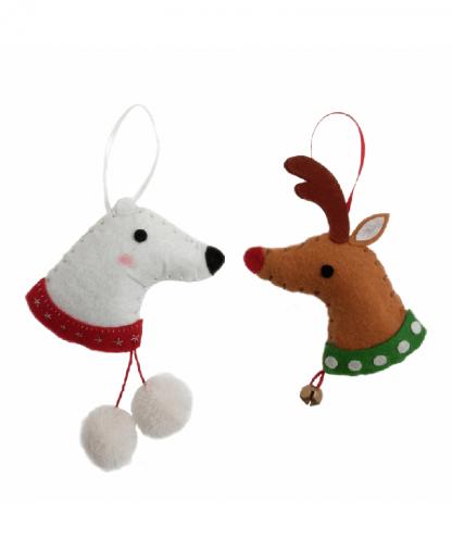 Trimits - Make Your Own Felt Decoration Kit - Reindeer & Polar Bear (GCK001)