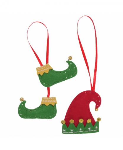 Trimits - Make Your Own Felt Decoration Kit - Elf Boots & Hat (GCK043)