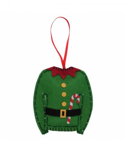 Trimits - Make Your Own Felt Decoration Kit - Elf Jumper (GCK054)