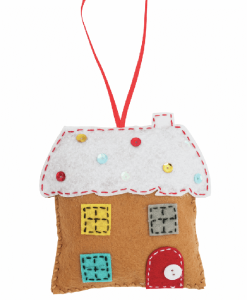Trimits - Make Your Own Felt Decoration Kit - Gingerbread House (GCK027)