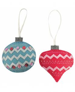 Trimits - Make Your Own Felt Decoration Kit - Pair of Baubles (GCK024)