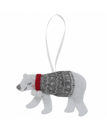 Trimits - Make Your Own Felt Decoration Kit - Polar Bear (GCK040)