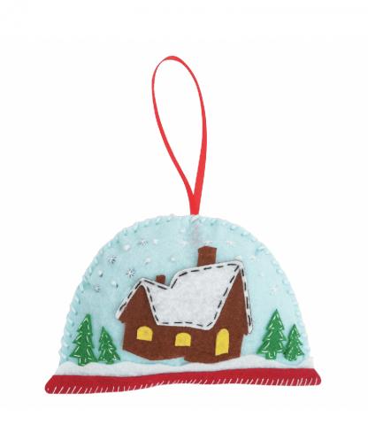 Trimits - Make Your Own Felt Decoration Kit - Snowglobe (GCK023)