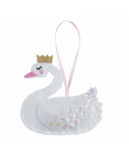 Trimits - Make Your Own Felt Decoration Kit - Swan with Crown (GCK075)