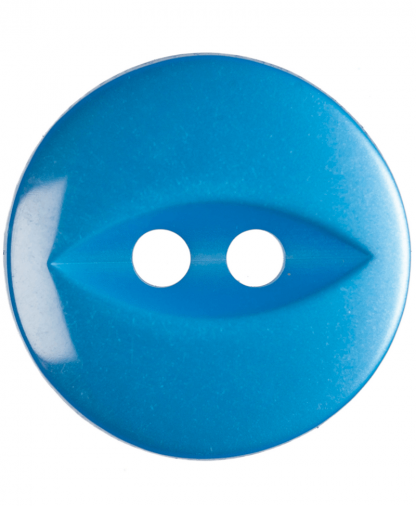 Round Fisheye Button - 22 Lignes (14mm) - Bright Blue (G033922_16)