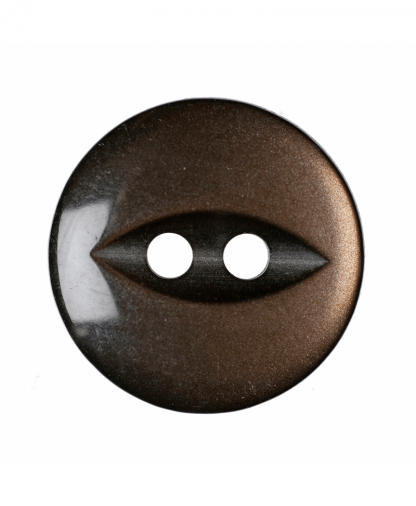 Round Fisheye Button - 22 Lignes (14mm) - Brown (G033922_30)