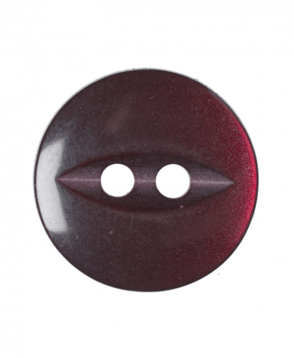 Round Fisheye Button - 22 Lignes (14mm) - Burgundy (G033922_12)
