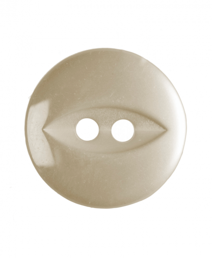 Round Fisheye Button - 22 Lignes (14mm) - Cream (G033922_42)