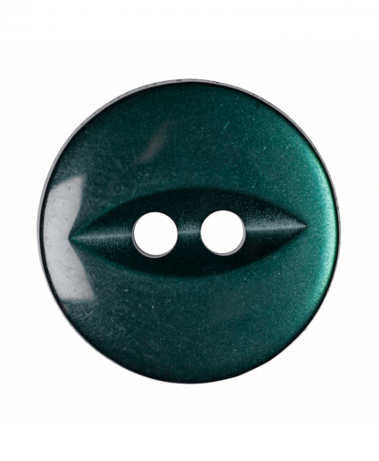 Round Fisheye Button - 22 Lignes (14mm) - Dark Green (G033922_26)