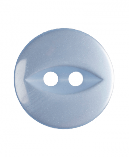 Round Fisheye Button - 22 Lignes (14mm) - Light Blue (G033922_15)