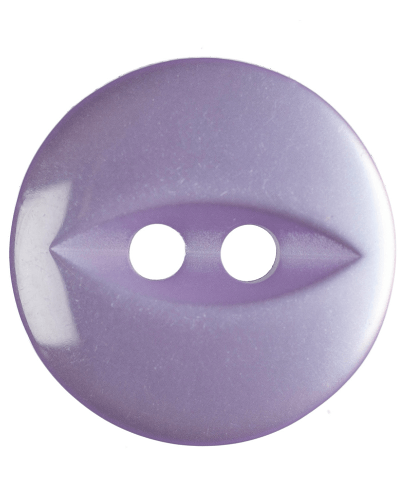 22L 14mm Purple Round Fish Eye Button 2 Hole