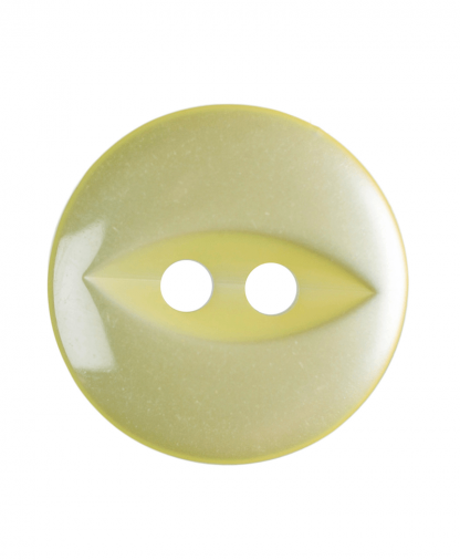 Round Fisheye Button - 22 Lignes (14mm) - Yellow (G033922_3)