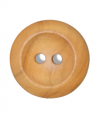 Round Olive Wood Button - Size 28 (18mm) (G176328)