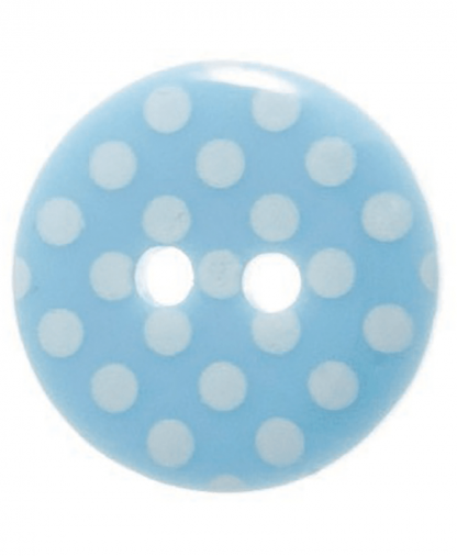 Round Spot Button Size 24 (15mm) - Blue (15)