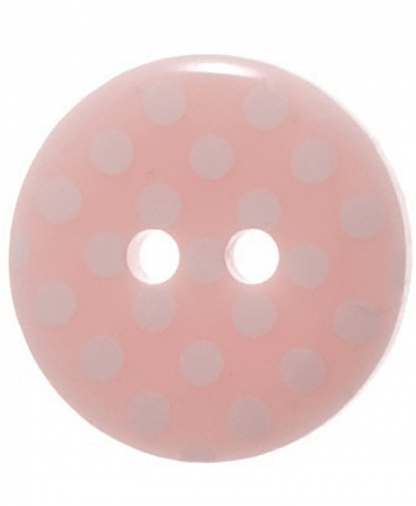 Round Spot Button Size 24 (15mm) - Pink (6)