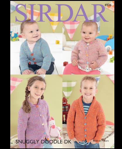 Sirdar 4926 Cardigans in Snuggly Doodle DK