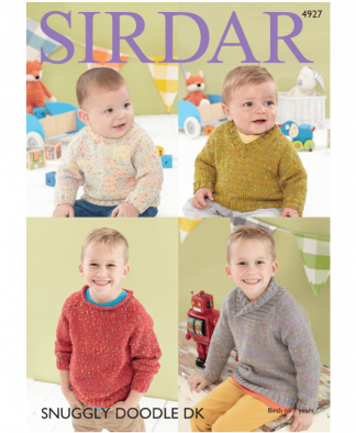 Sirdar 4927 Sweaters in Snuggly Doodle DK