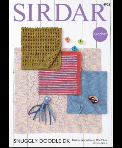 Sirdar 4928 Blankets in Snuggly Doodle DK