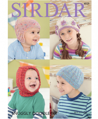 Sirdar 4929 Hats in Snuggly Doodle DK