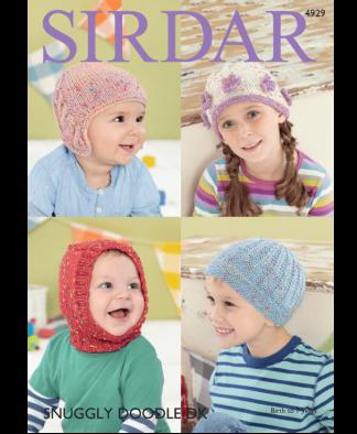 Sirdar 4929 Hats in Snuggly Doodle DK