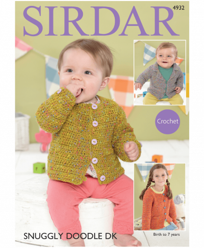 Sirdar 4932 Collared Blazer Girls Channel-Style Jackets in Snuggly Doodle DK