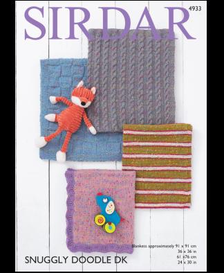 Sirdar 4933 Blankets in Snuggly Doodle DK