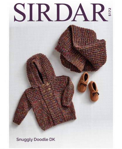 Sirdar 5172P Hooded Jacket and Blanket in Snuggly Doodle DK