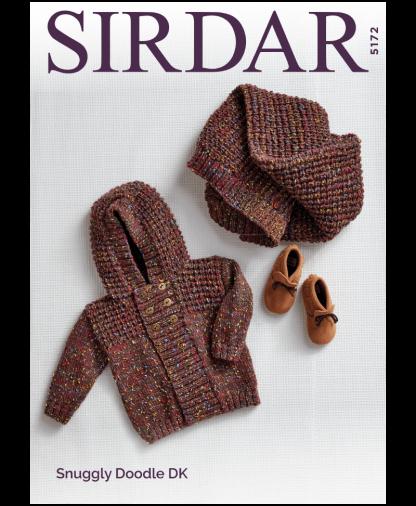 Sirdar 5172P Hooded Jacket and Blanket in Snuggly Doodle DK