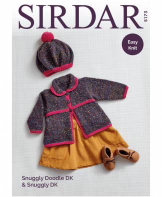 Sirdar 5173P Coat and Beret in Snuggly Doodle DK