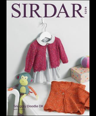 Sirdar 5209 Girls Cardigans in Snuggly Doodle DK
