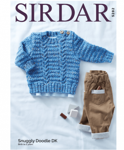Sirdar 5282 Sweater in Snuggly Doodle DK