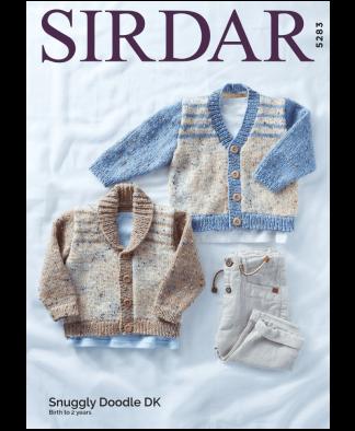 Sirdar 5283 Cardigans in Snuggly Doodle DK