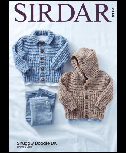 Sirdar 5284 Jackets in Snuggly Doodle DK