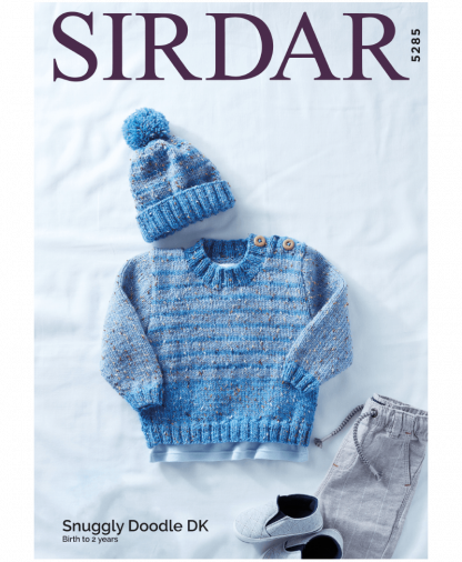 Sirdar 5285 Sweater and Hat in Snuggly Doodle DK