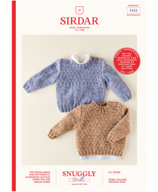 Sirdar 5352 Boys Sweaters in Snuggly Doodle DK