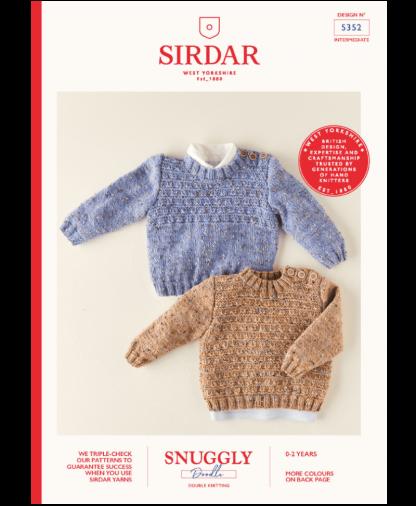 Sirdar 5352 Boys Sweaters in Snuggly Doodle DK