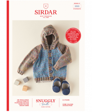 Sirdar 5353 Hooded Jacket in Snuggly Doodle DK