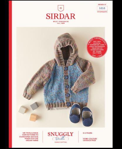 Sirdar 5353 Hooded Jacket in Snuggly Doodle DK