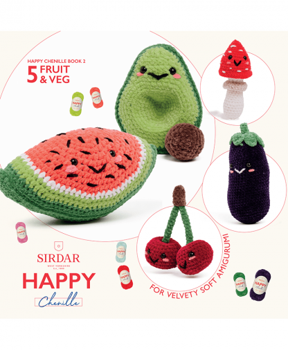 Sirdar Happy Chenille Book 2 - Fruit and Veg (BK547)