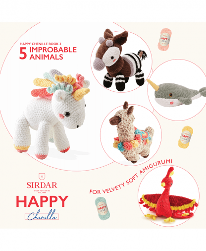 Sirdar Happy Chenille Book 2 - Impossible Animals (BK548)
