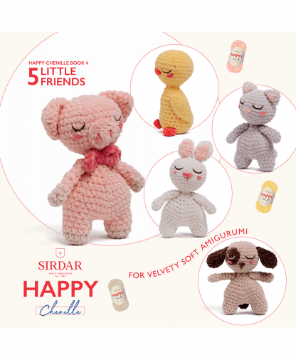 Sirdar Happy Chenille Book 2 - Little Friends (BK549)