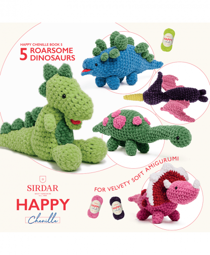 Sirdar Happy Chenille Book 2 - Roarsome Dinosaurs (BK550)