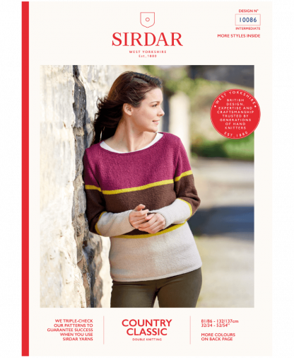 Sirdar 10086 Three Colour Sweater in Country Classic DK