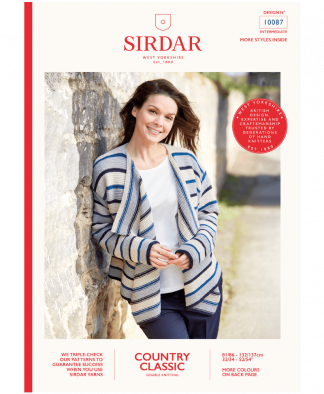 Sirdar 10087 Jacket in Country Classic DK Measurements