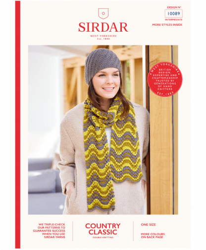 Sirdar 10089 Hat and Scarf in Country Classic DK