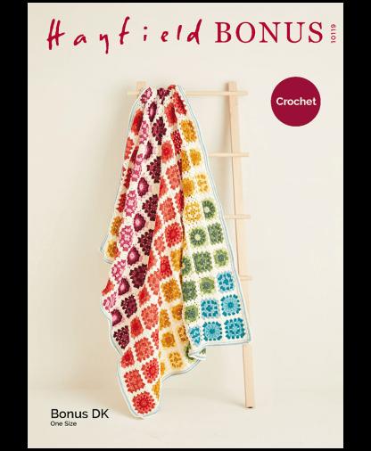 Sirdar 10119 Crochet Blanket in Hayfield Bonus DK