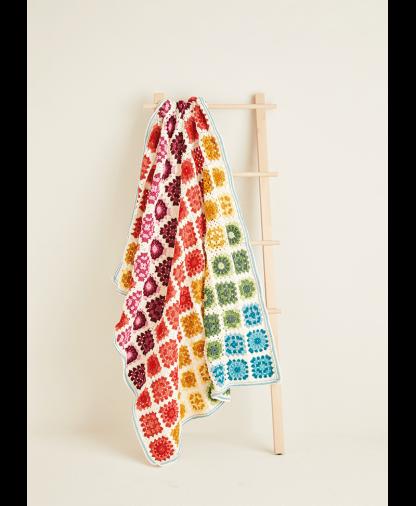 Sirdar 10119 Crochet Blanket in Hayfield Bonus DK Colour Pack