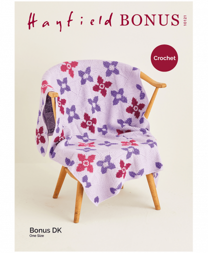 Sirdar 10121 Crochet Blanket in Hayfield Bonus DK