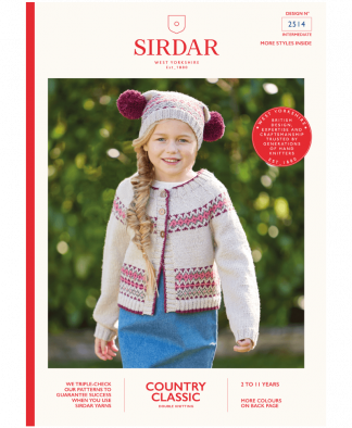 Sirdar 2514 Cardigan and Hat in Country Classic DK